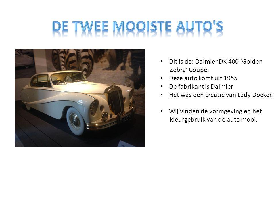 Dit is de: Daimler DK 400 'Golden Zebra' Coupé.