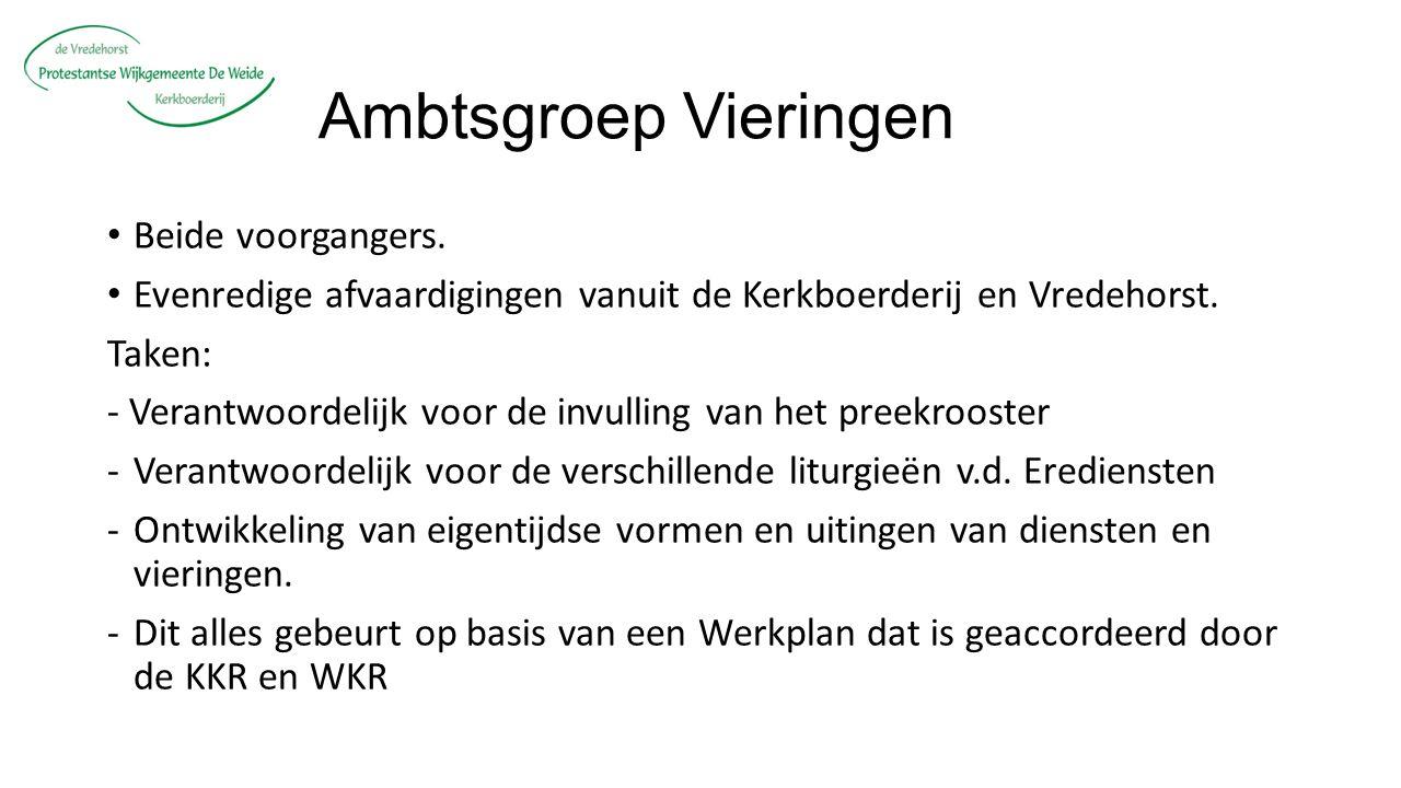 Ambtsgroep Vieringen Beide voorgangers.