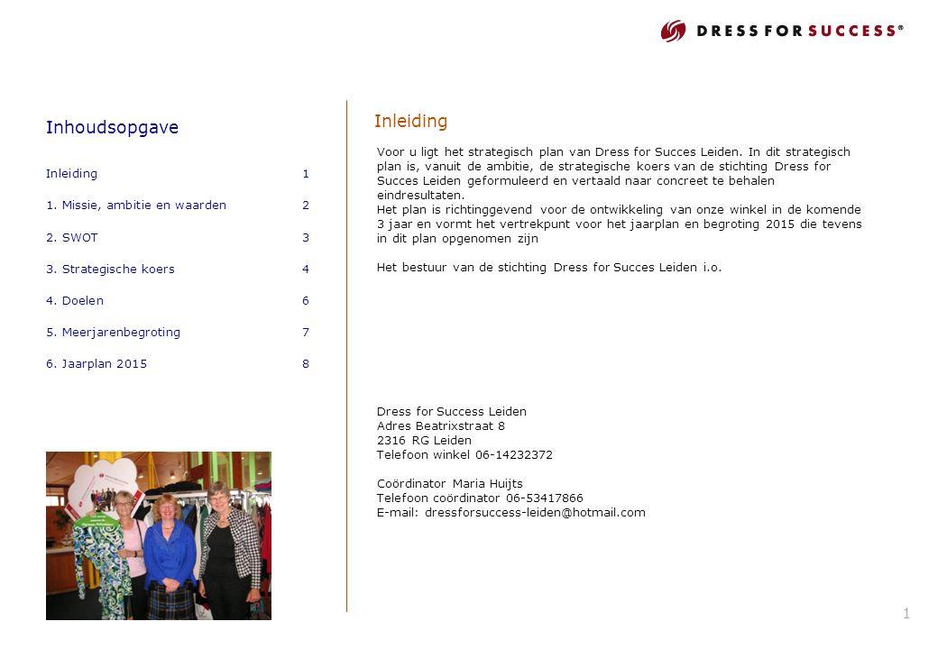 Inhoudsopgave Inleiding1 1. Missie, ambitie en waarden2 2.
