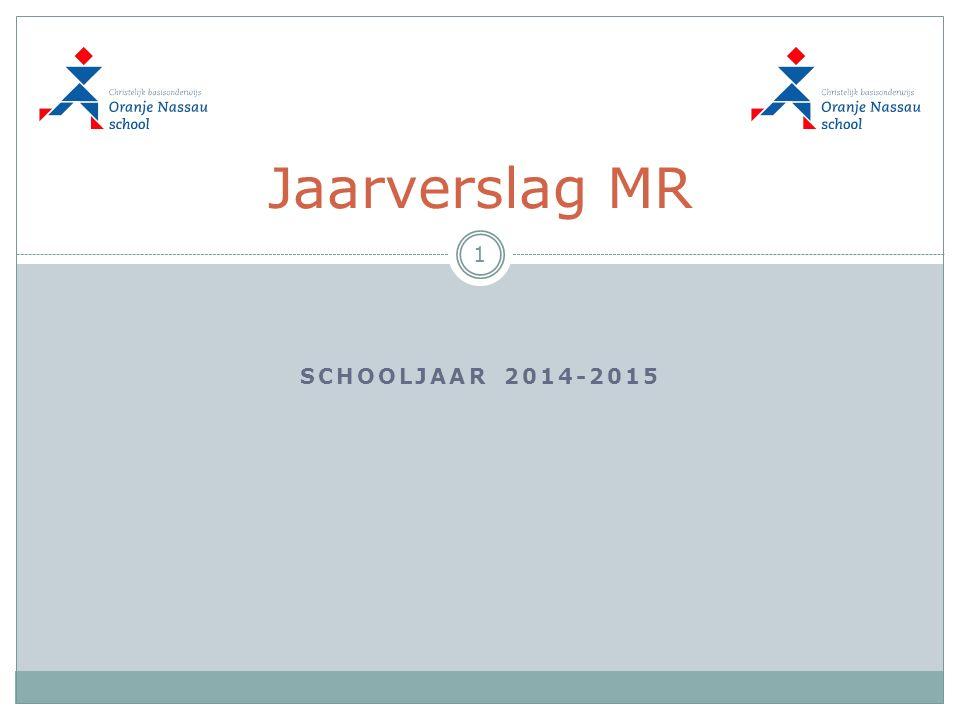 SCHOOLJAAR 2014-2015 Jaarverslag MR 1