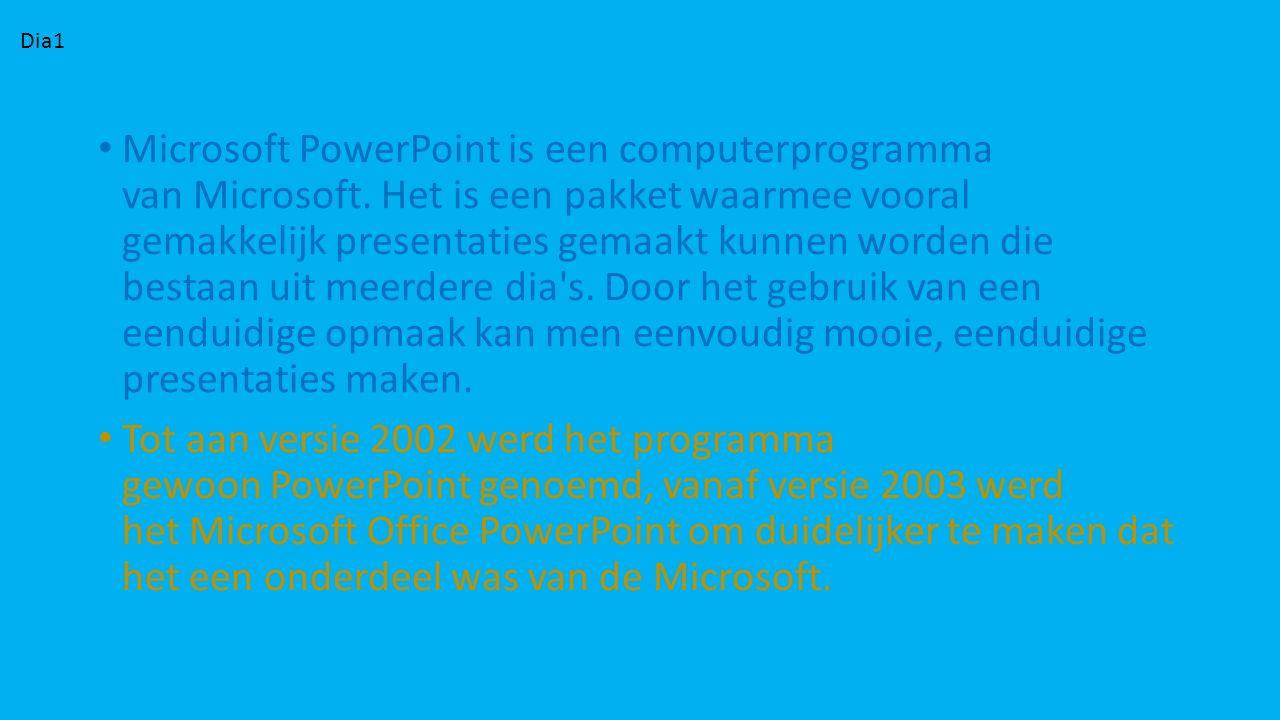 Microsoft PowerPoint is een computerprogramma van Microsoft. Het is een pakket waarmee vooral gemakkelijk presentaties gemaakt kunnen worden die besta