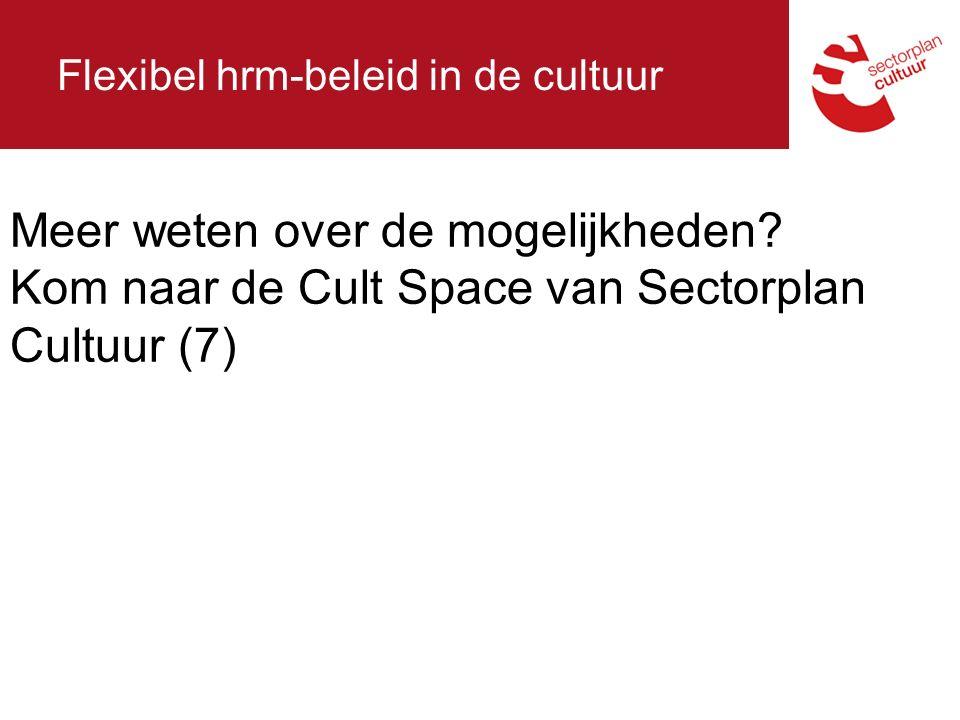 Flexibel hrm-beleid in de cultuur Meer weten over de mogelijkheden.