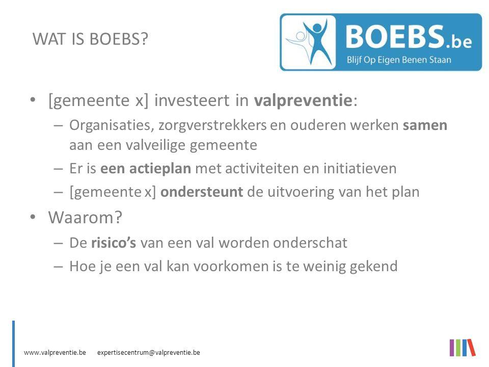 www.valpreventie.be expertisecentrum@valpreventie.be BOEBS (Blijf Op Eigen Benen Staan)IN ACTIE BOEBS Olen