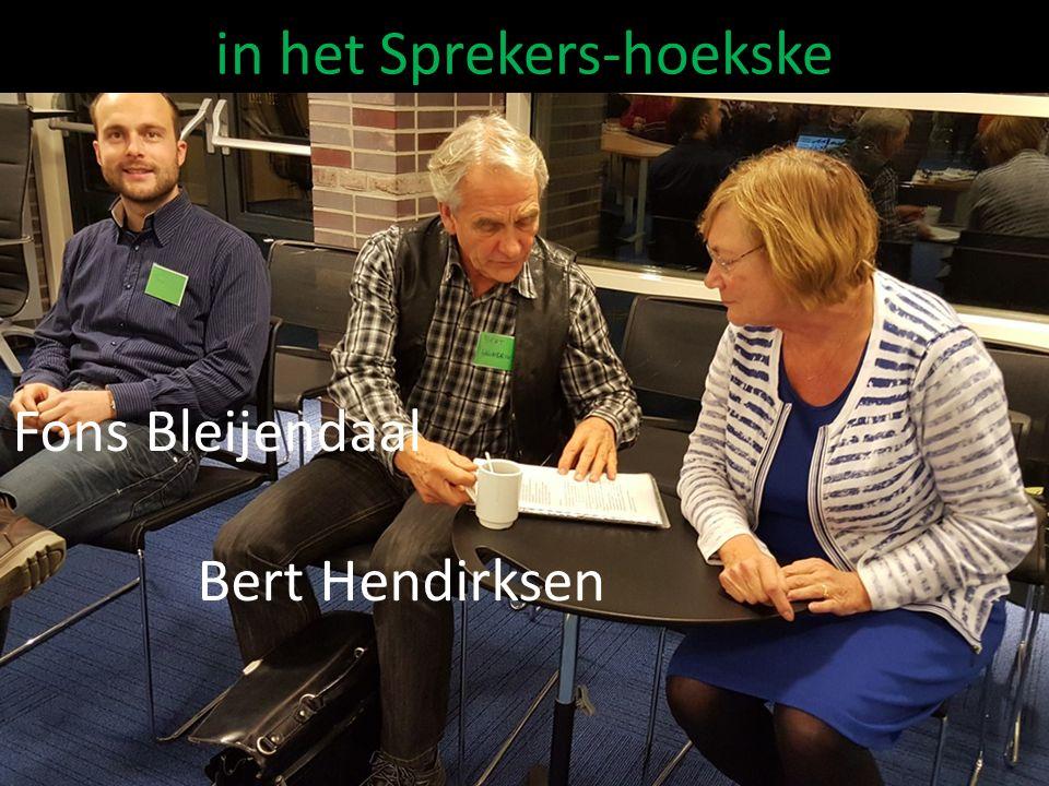 Fons Bleijendaal Bert Hendirksen in het Sprekers-hoekske