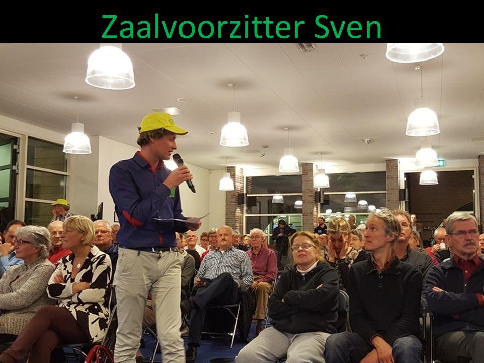 Zaalvoorzitter Sven