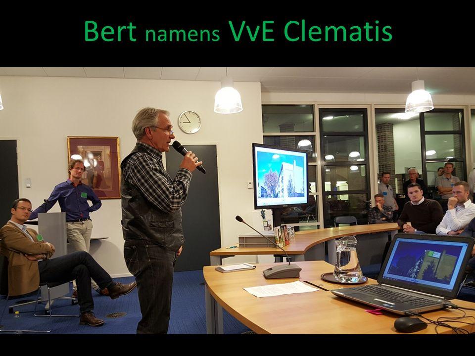 Bert namens VvE Clematis