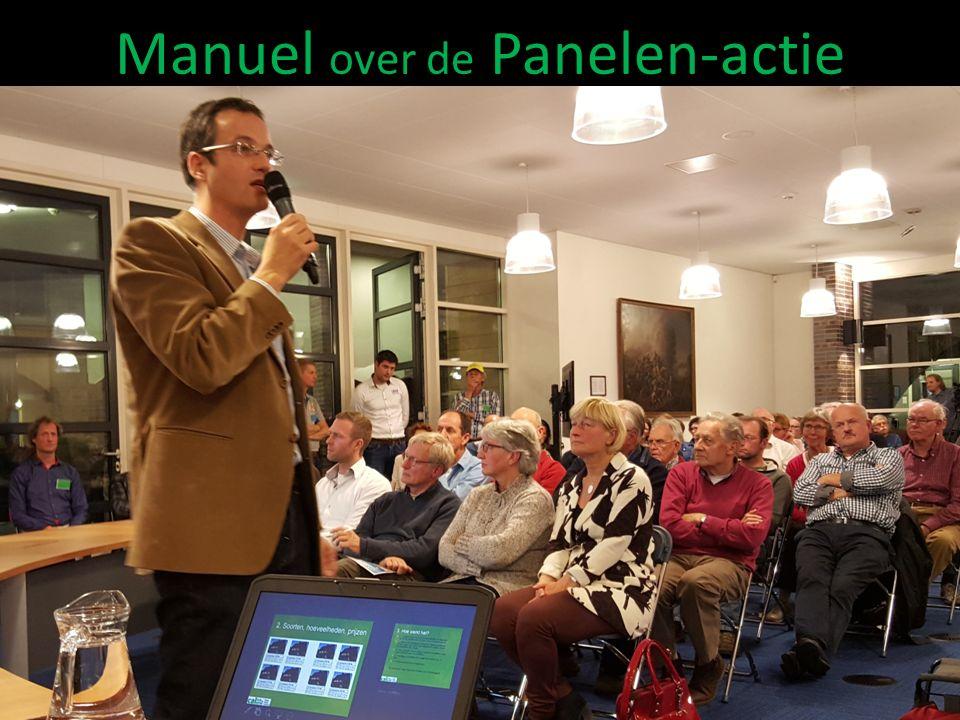 Manuel over de Panelen-actie