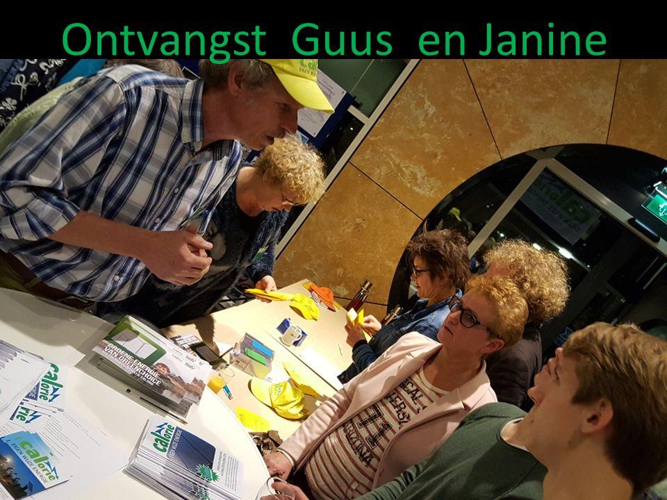 Ontvangst Guus en Janine