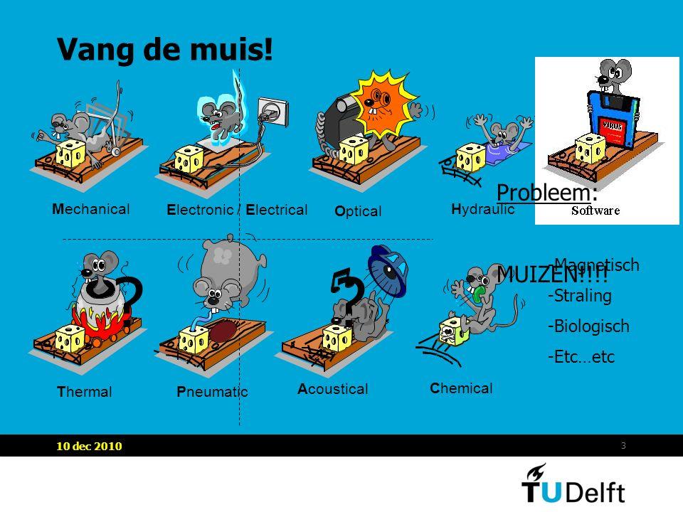 3 Vang de muis! Mechanical Pneumatic Probleem: MUIZEN!!!! -Magnetisch -Straling -Biologisch -Etc…etc ??
