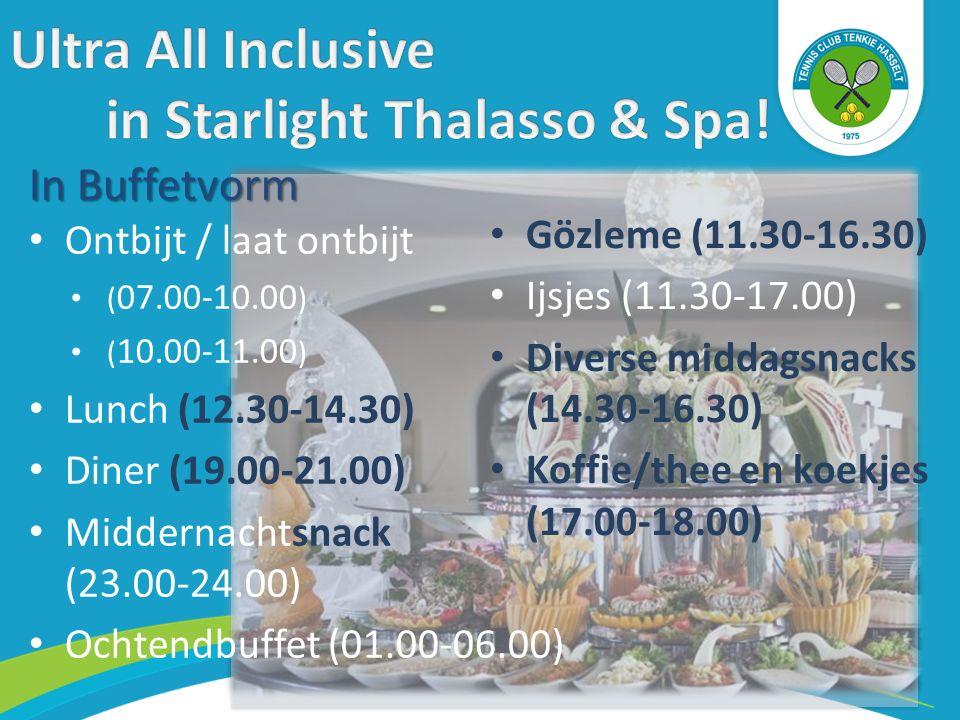 Tijdens uw verblijf kunt u eenmaal gratis dineren in het Mediterranean à la carte restaurant (reservering verplicht).