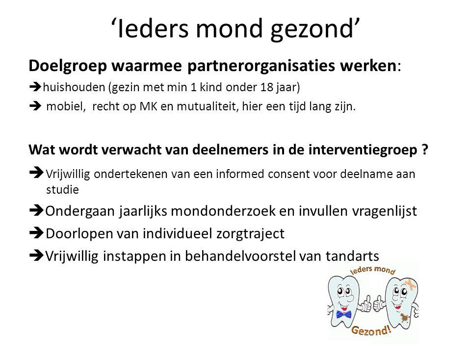  Partnerorganisaties in de controlegroep Wat wordt verwacht van partnerorganisaties in de controlegroep .