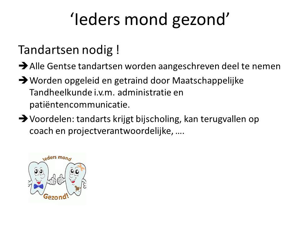 Martijn Lambert (Tandarts en coördinator van het project) lambert_martijn@hotmail.comlambert_martijn@hotmail.com Interesse om aan het project deel te nemen.