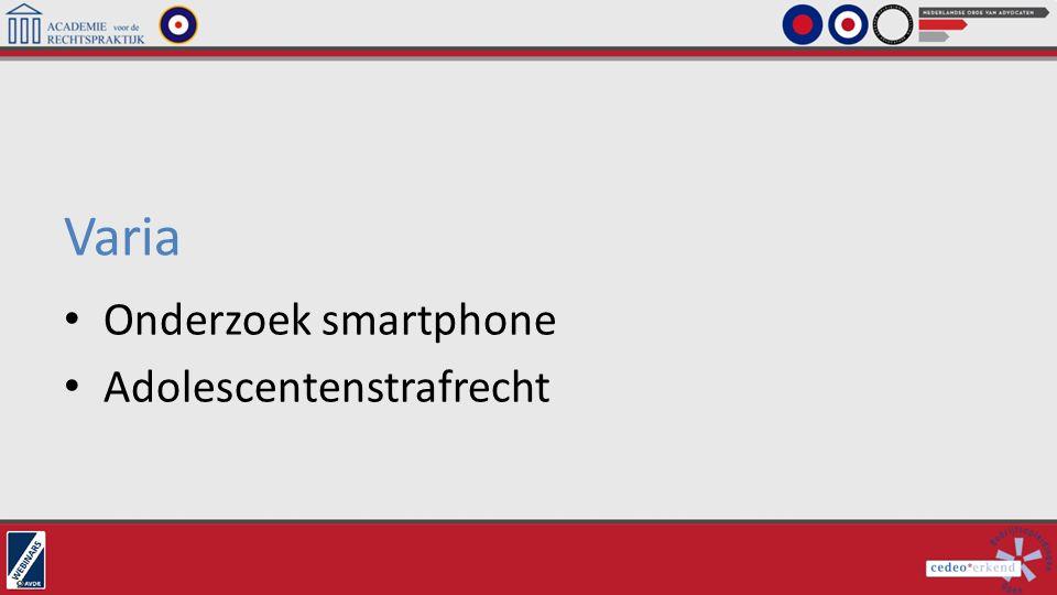 Varia Onderzoek smartphone Adolescentenstrafrecht