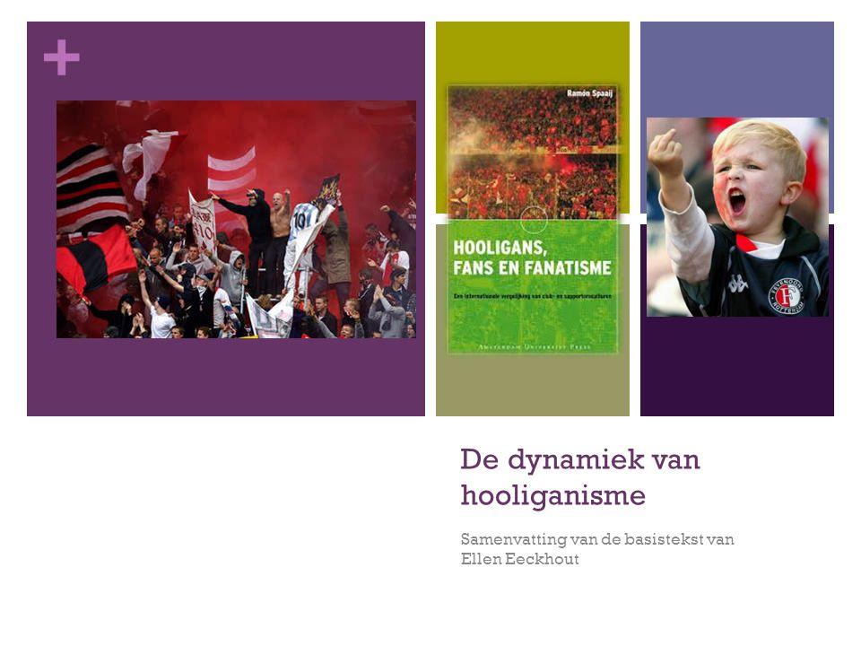 + De dynamiek van hooliganisme Samenvatting van de basistekst van Ellen Eeckhout