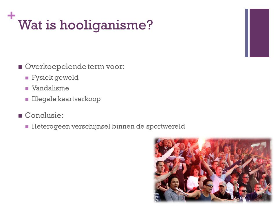 + Wat is hooliganisme.