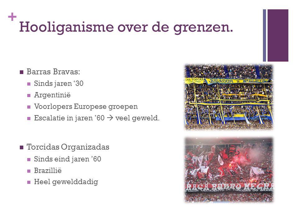 + Hooliganisme over de grenzen.