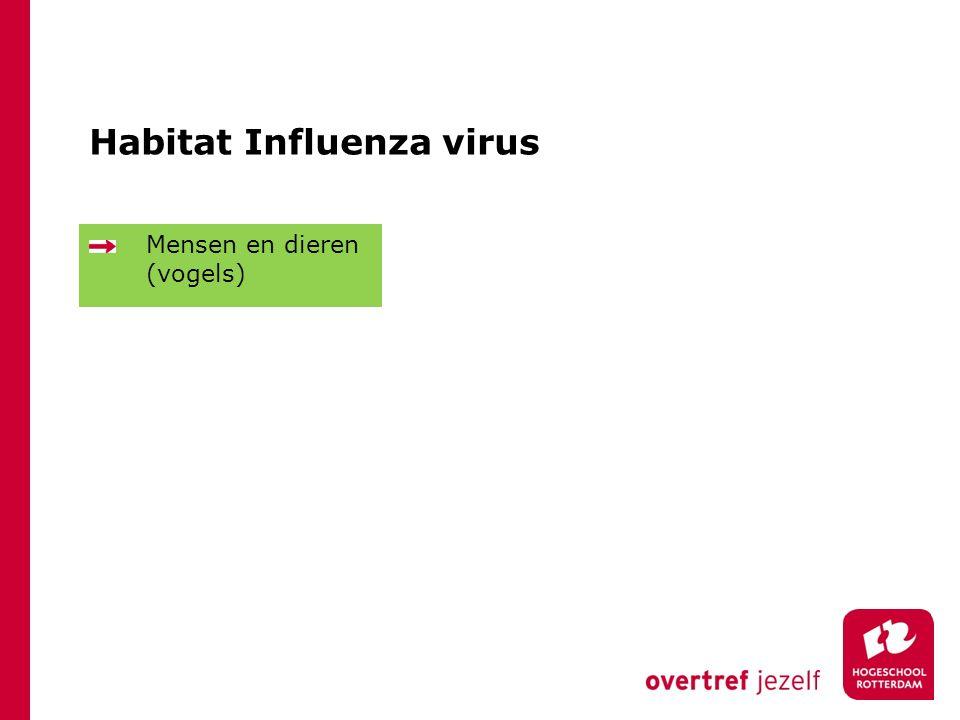 Habitat Influenza virus Mensen en dieren (vogels)