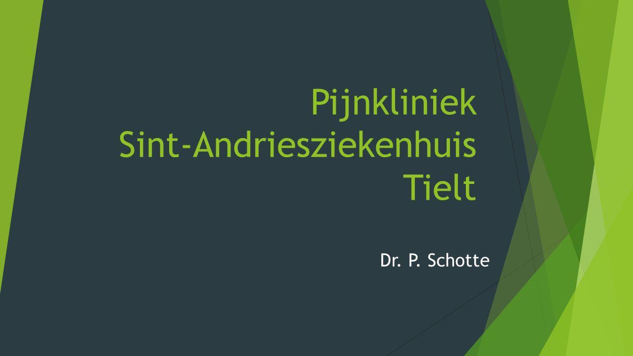 Pijnkliniek Sint-Andriesziekenhuis Tielt Dr. P. Schotte