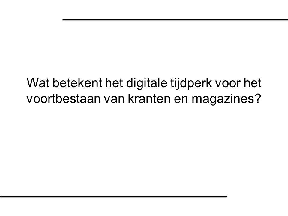 Probleem Het digitale tijdperk Bedreigingen Positionering van uitgevers Waarde van papier Waarom de papieren krant toch blijft