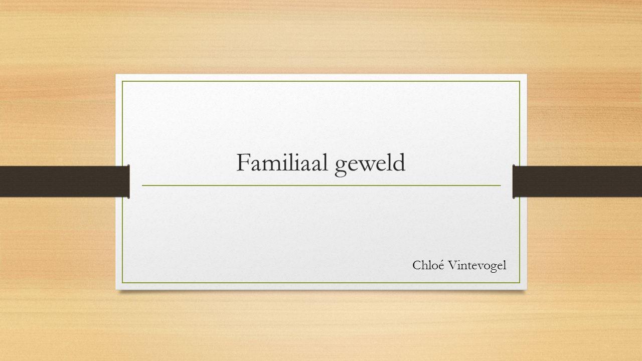 Familiaal geweld Chloé Vintevogel