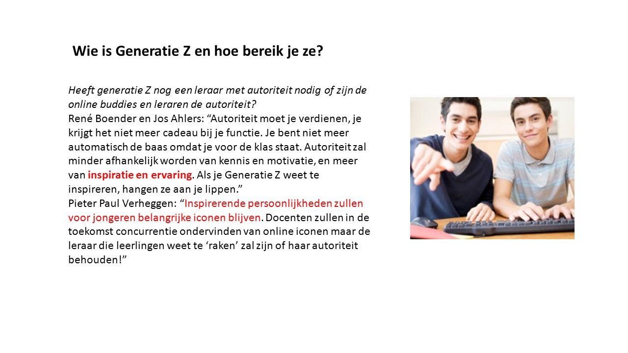 """Heeft generatie Z nog een leraar met autoriteit nodig of zijn de online buddies en leraren de autoriteit? René Boender en Jos Ahlers: """"Autoriteit moet"""