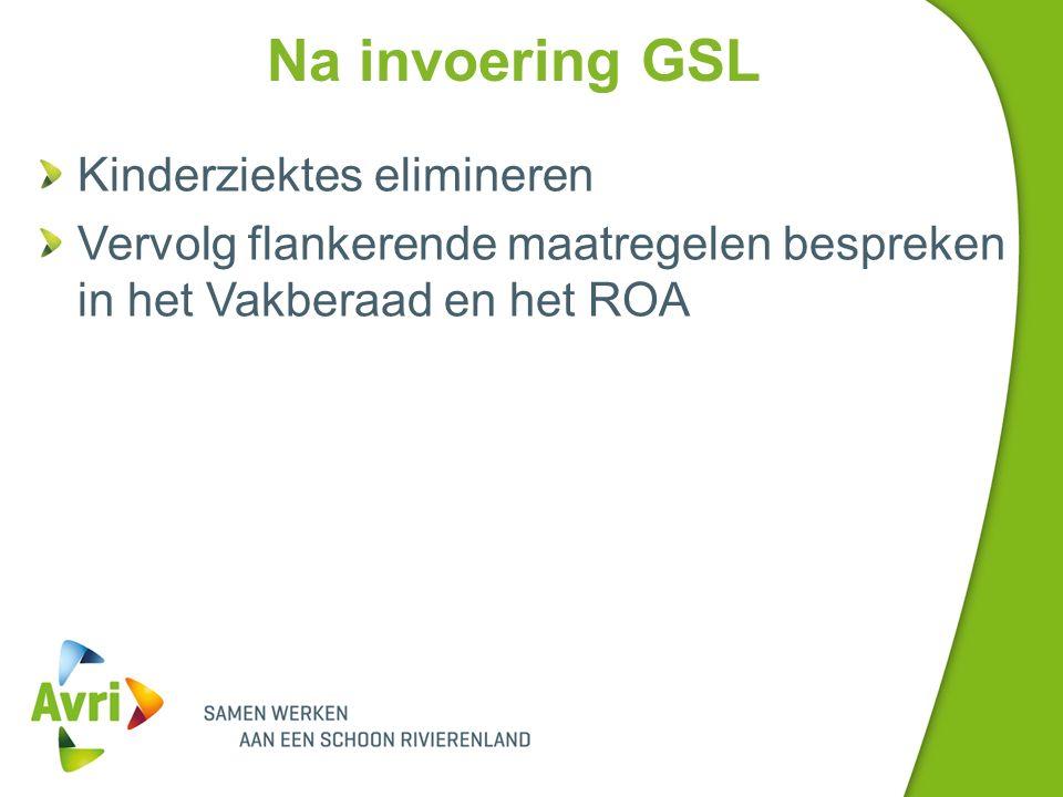 Na invoering GSL Kinderziektes elimineren Vervolg flankerende maatregelen bespreken in het Vakberaad en het ROA