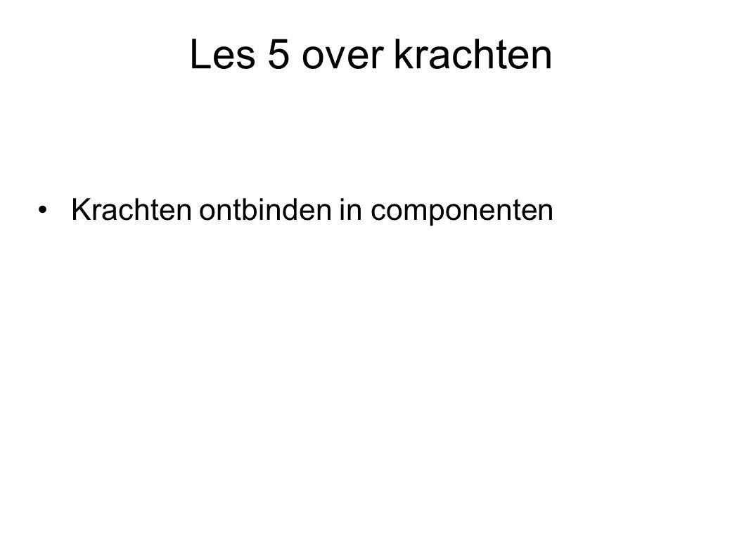 Les 5 over krachten Krachten ontbinden in componenten
