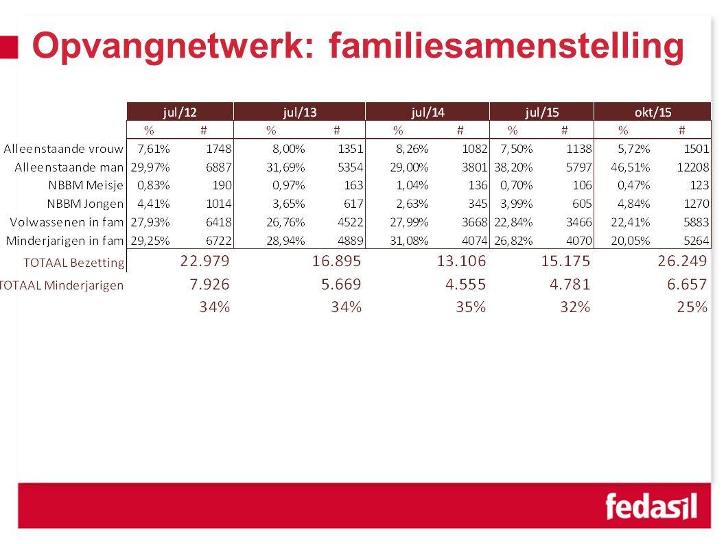 Opvangnetwerk: familiesamenstelling