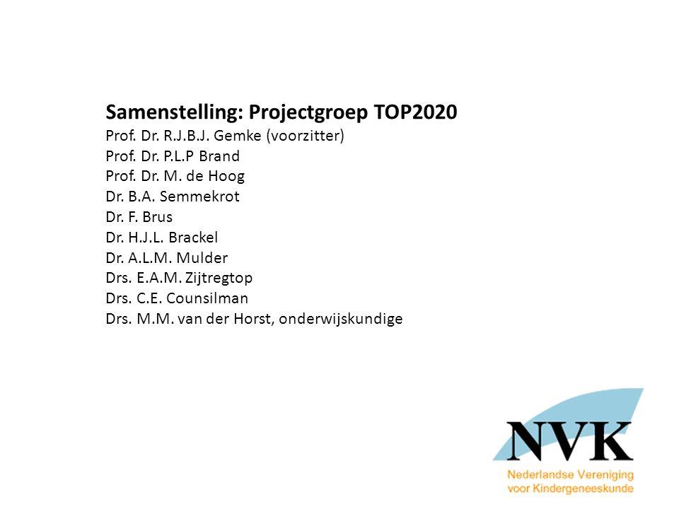 Samenstelling: Projectgroep TOP2020 Prof.Dr. R.J.B.J.