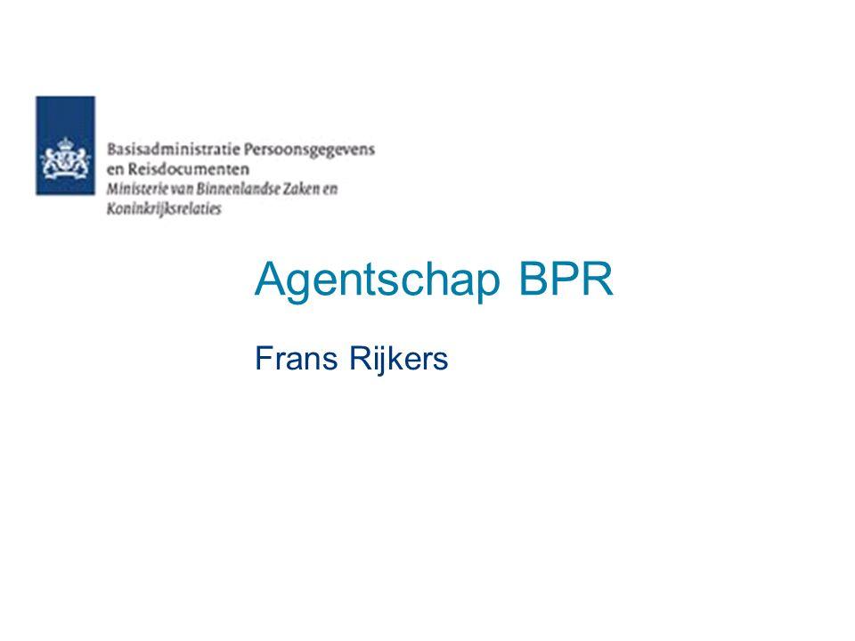 Agentschap BPR Frans Rijkers