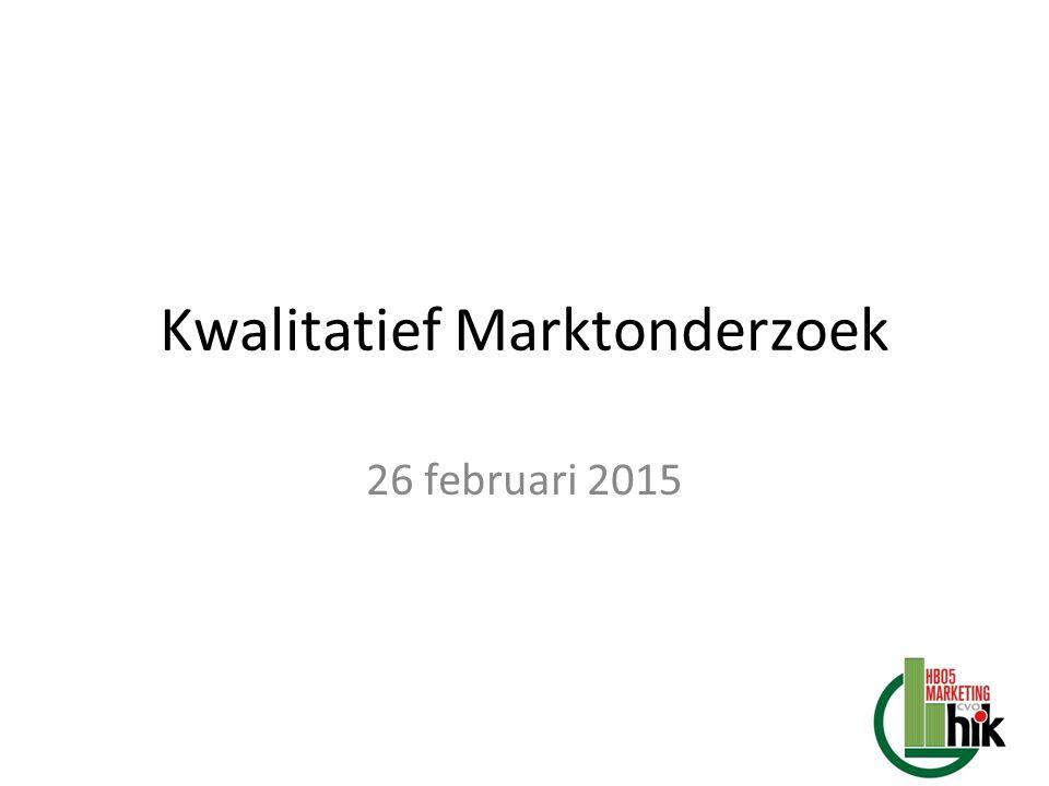 Kwalitatief Marktonderzoek 26 februari 2015