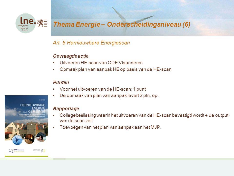 Thema Energie – Onderscheidingsniveau (7) Art.