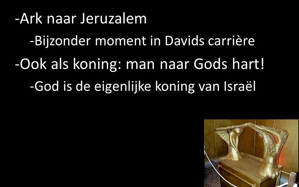 -Leven van Gods genáde (=gratie) -Gods belofte voor David -De beloofde Messias: Jezus Christus -Koning over Gods volk, ook vandaag 16