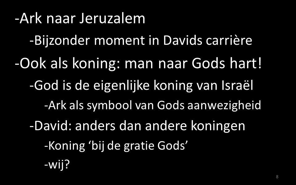 -Leven van Gods genáde (=gratie) -Gods belofte voor David -De beloofde Messias: Jezus Christus -Koning over Gods volk, ook vandaag -Gods vergevingsgezindheid: redding.