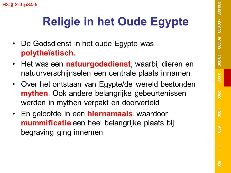Religie in het Oude Egypte De Godsdienst in het oude Egypte was polytheïstisch. Het was een natuurgodsdienst, waarbij dieren en natuurverschijnselen e