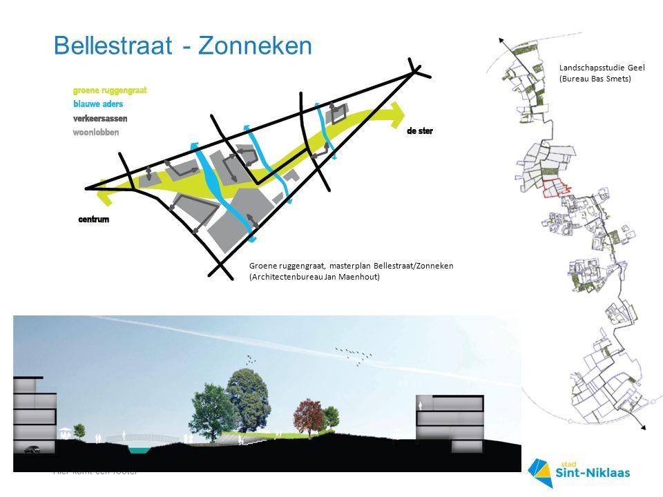 Bellestraat - Zonneken Hier komt een footer Groene ruggengraat, masterplan Bellestraat/Zonneken (Architectenbureau Jan Maenhout) Landschapsstudie Geel