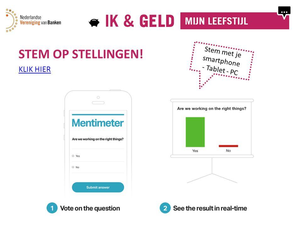 STEM OP STELLINGEN! KLIK HIER Stem met je smartphone - Tablet - PC
