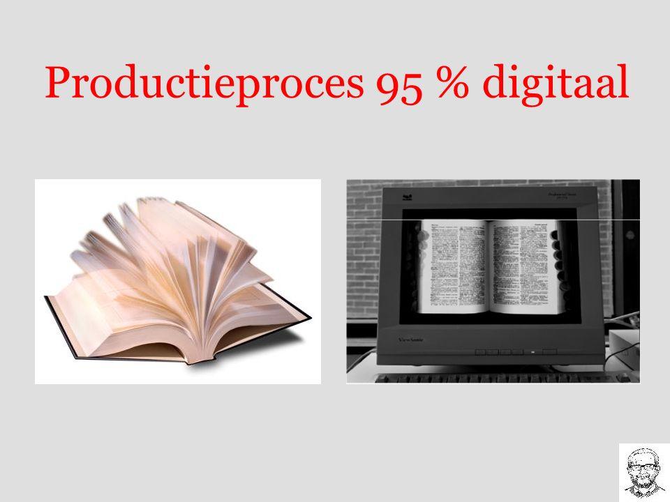 Productieproces 95 % digitaal