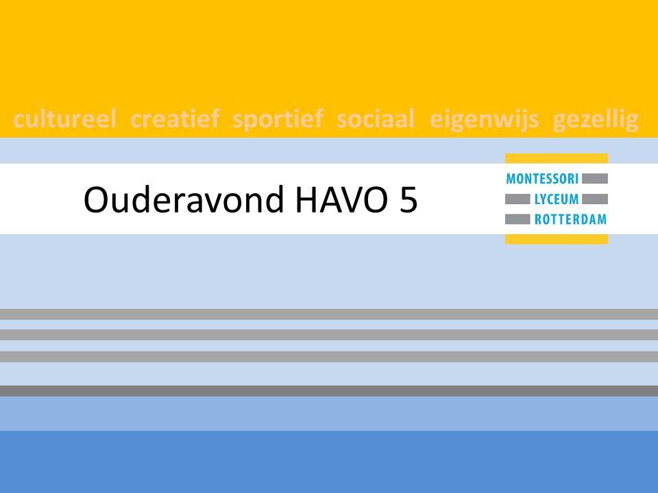 cultureel creatief sportief sociaal eigenwijs gezellig Ouderavond HAVO 5