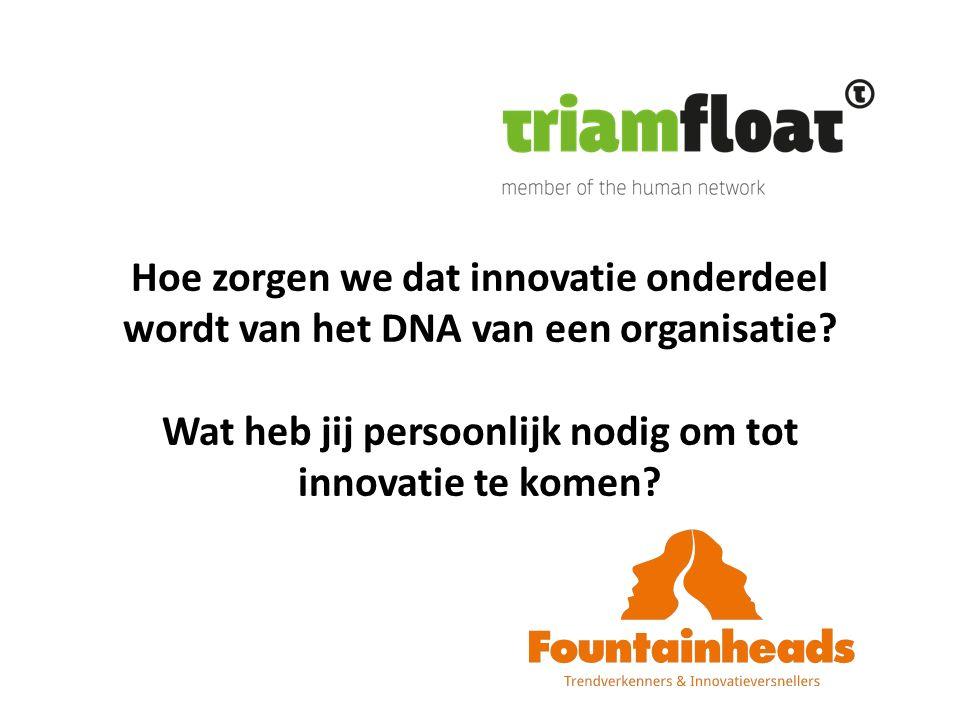 Hoe zorgen we dat innovatie onderdeel wordt van het DNA van een organisatie.