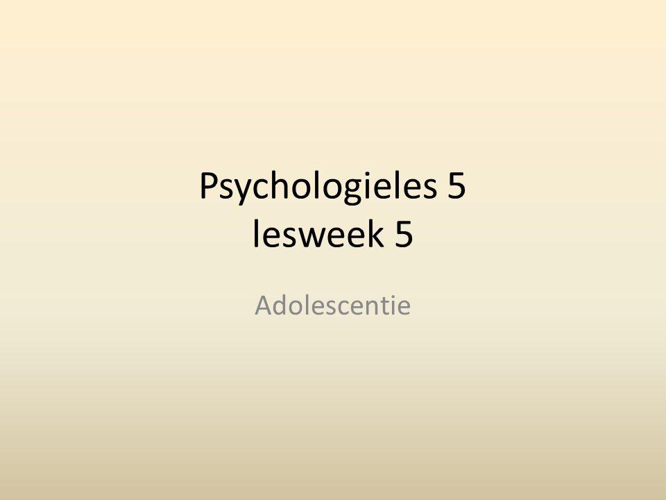 Vandaag: Psychische problemen in de adolescentie Lichamelijke problemen in de adolescentie