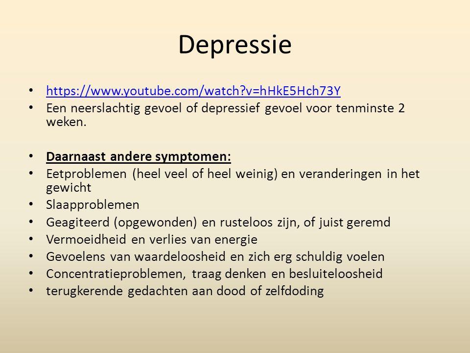Depressie (2) 2 keer meer bij vrouwen, dan bij mannen.