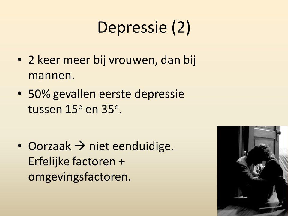 Depressie (3) Meeste mensen na een half jaar van hun depressie af.