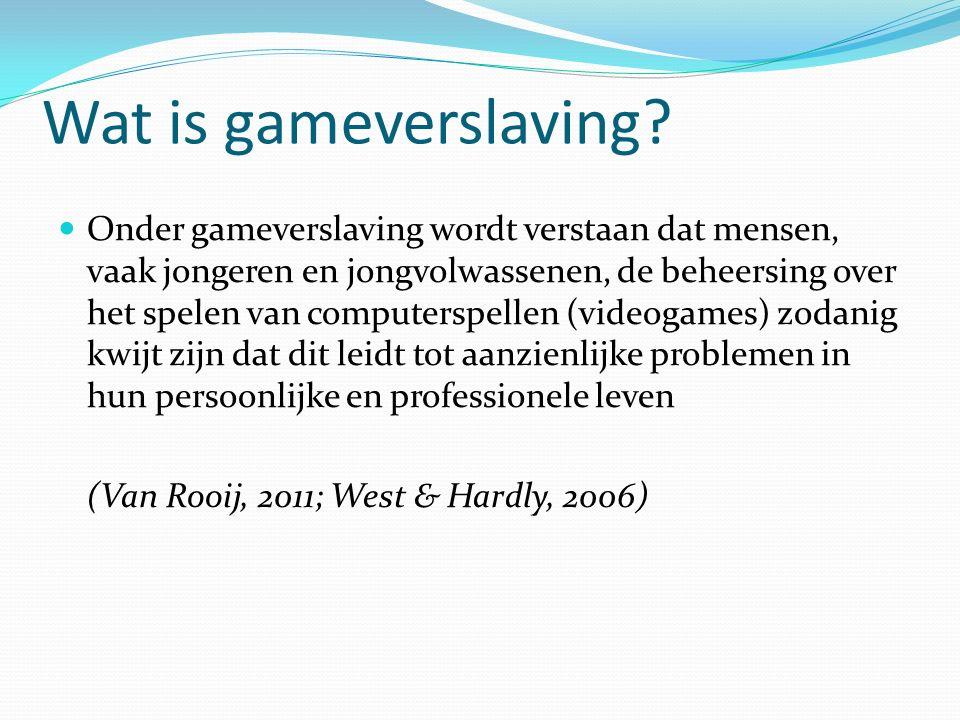 Conclusies problematisch gamen Kleine groep ervaart gameproblematiek.