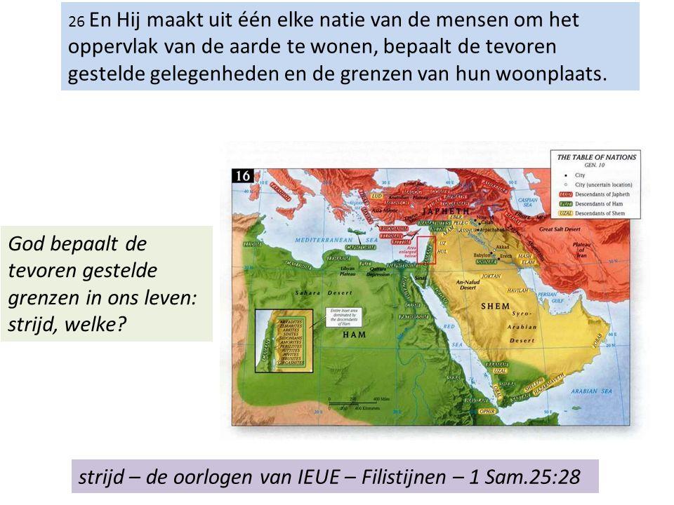 27 om zij de Heer te zoeken, of zij Hem mogen tastend en Hem mogen vinden, hoewel Hij niet ver is van ieder van ons.