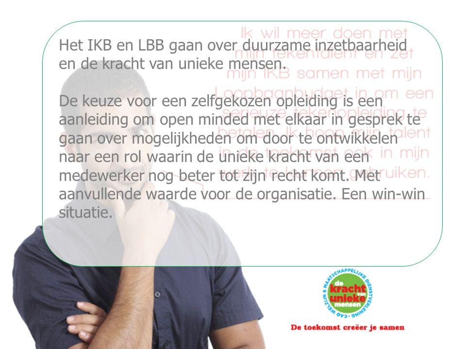 Het IKB en LBB gaan over duurzame inzetbaarheid en de kracht van unieke mensen. De keuze voor een zelfgekozen opleiding is een aanleiding om open mind