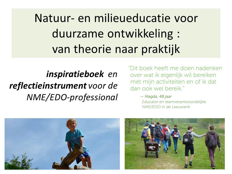 Natuur- en milieueducatie voor duurzame ontwikkeling : van theorie naar praktijk inspiratieboek en reflectieinstrument voor de NME/EDO-professional