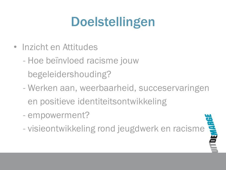 Doelstellingen Inzicht en Attitudes - Hoe beïnvloed racisme jouw begeleidershouding.