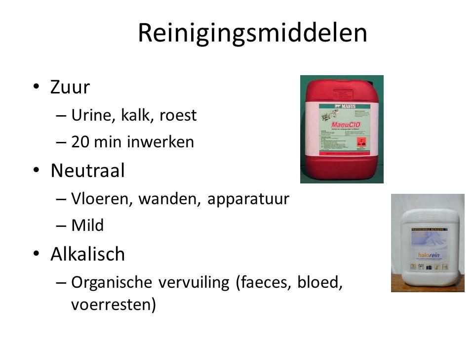 Reinigen in de praktijk Mechanisch – Schrobben – Ultrasoon trilapparaat Chemisch – Reiningsmiddelen Fysisch – Verwarmen (40-70 graden)