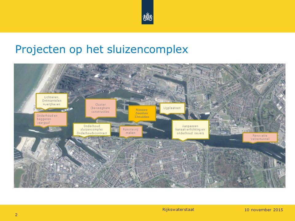 Rijkswaterstaat Projecten op het sluizencomplex Overzicht van alle projecten RWS op en om het sluizencomplex 2 10 november 2015 Lichteren, Ontmantelen